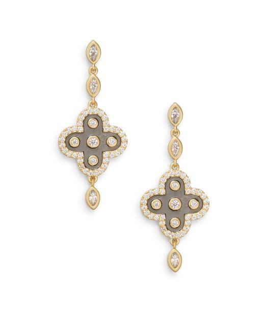 Freida Rothman | Metallic Marquis Clover Drop Earrings | Lyst