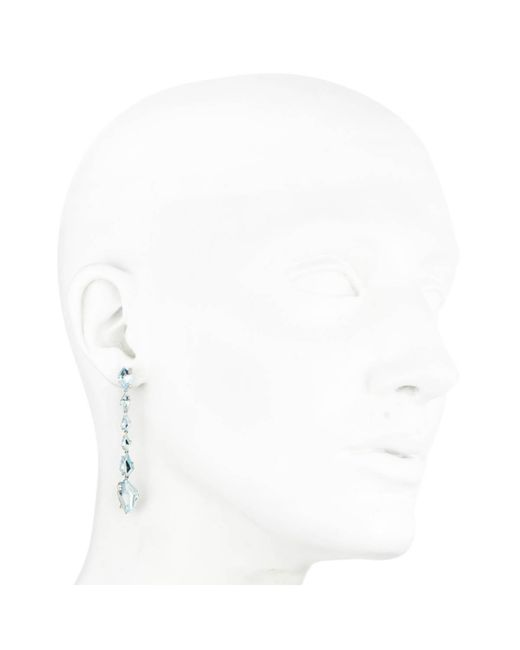 Alexis Bittar | Metallic Blue Topaz Diamond Linear Kite Earring You Might Also Like | Lyst