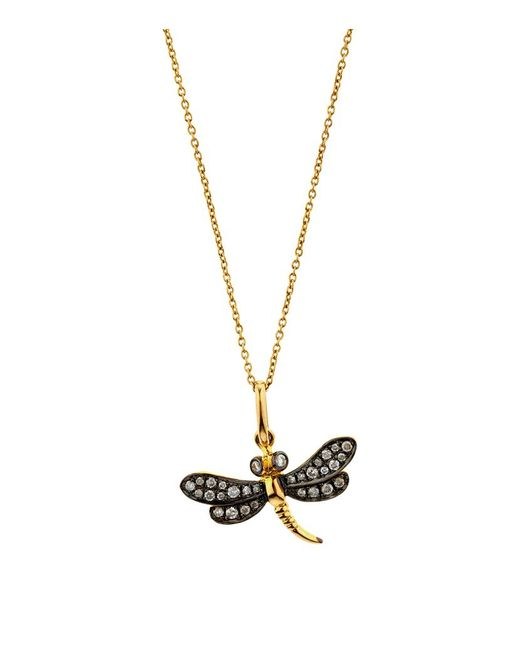 Annoushka | Metallic Love Diamonds Dragonfly Necklace | Lyst