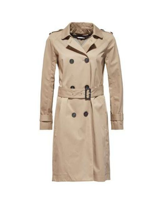 tommy hilfiger city cotton trench coat in beige light. Black Bedroom Furniture Sets. Home Design Ideas