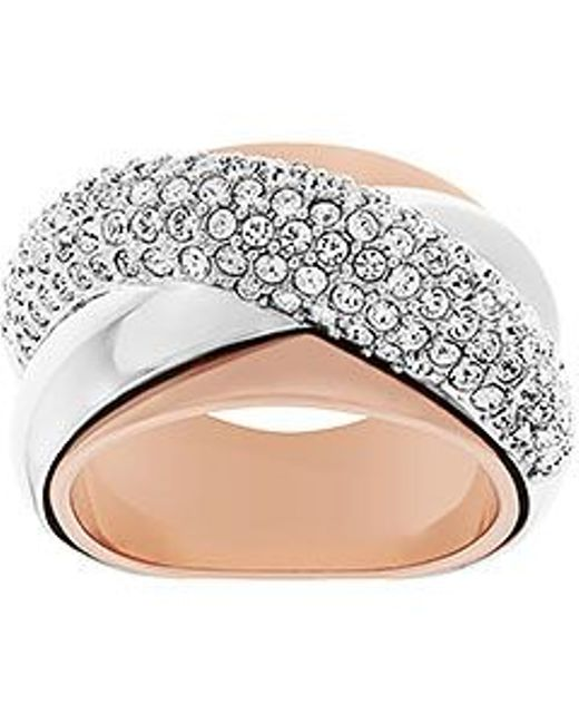 Swarovski | Metallic Wave Ring | Lyst