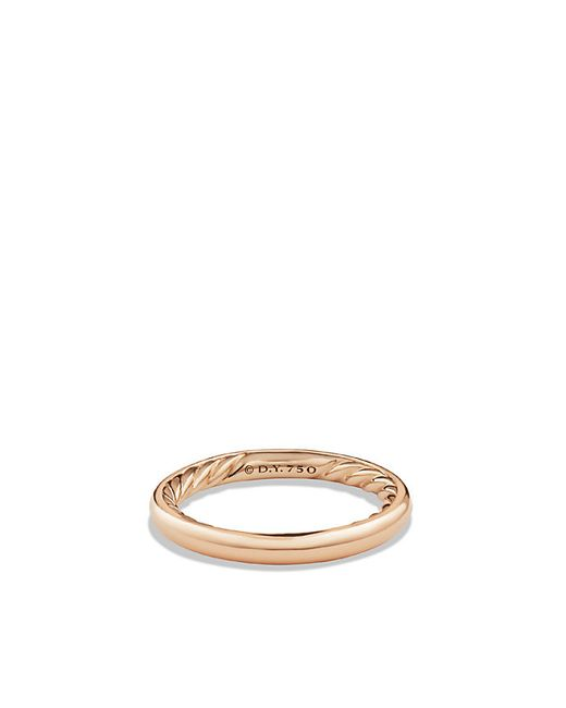 David Yurman | Pink Dy Eden Smooth Wedding Band In 18k Rose Gold, 2.5mm | Lyst