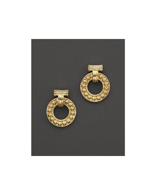 Lagos | Metallic 18k Gold Circle Earrings | Lyst