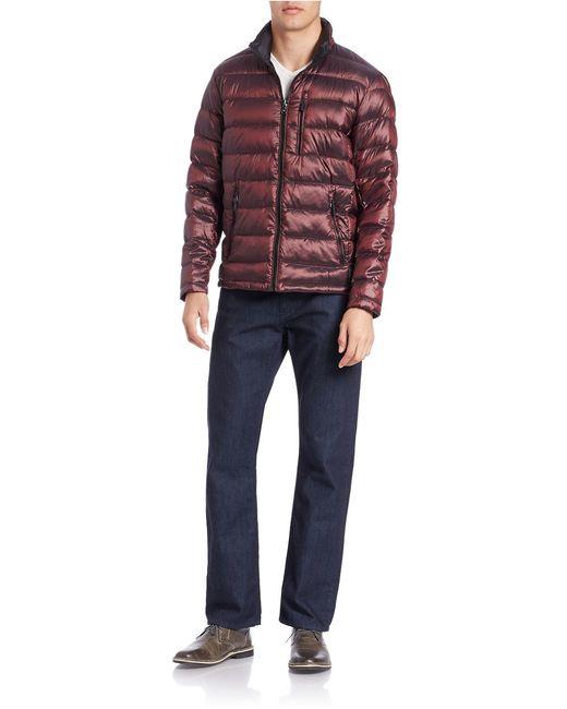 Calvin Klein | Red Down Puffer Coat for Men | Lyst