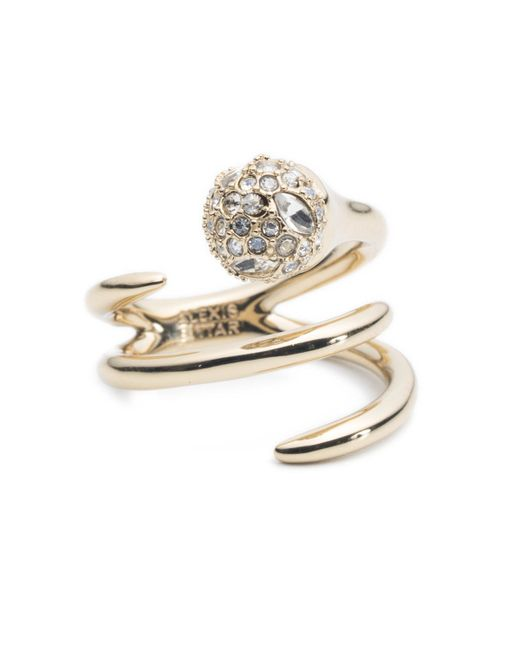 Alexis Bittar | Metallic Encrusted Sphere Coiled Cocktail Ring You Might Also Like | Lyst