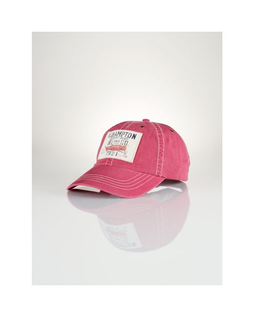 Polo Ralph Lauren | Red Iconic Twill Cap for Men | Lyst