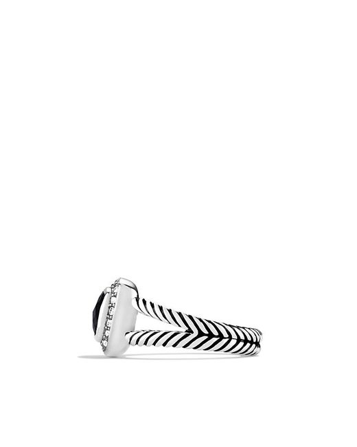 David Yurman | Petite Albion Ring With Black Onyx And Diamonds | Lyst