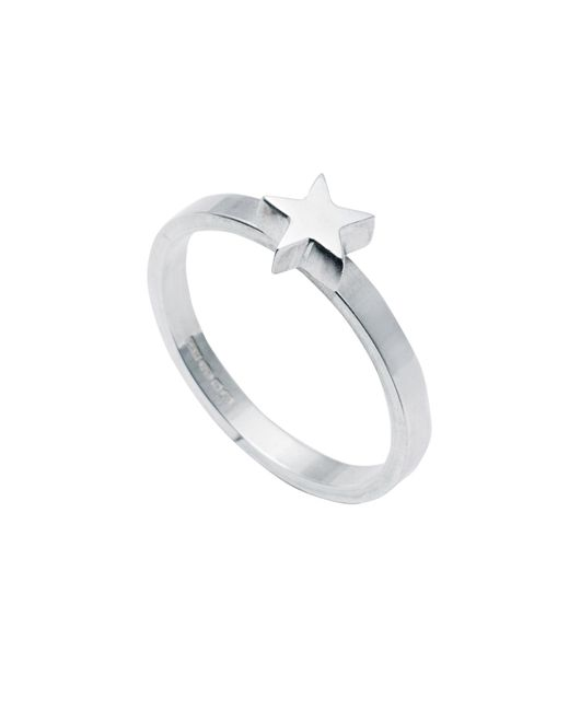 Edge Only | Metallic Star Stacking Ring Silver | Lyst