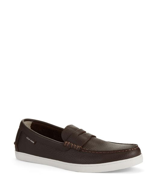 Cole Haan | Brown Pinch Leather Loafers for Men | Lyst