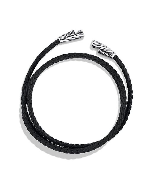 David Yurman | Chevron Triple-wrap Bracelet In Black for Men | Lyst