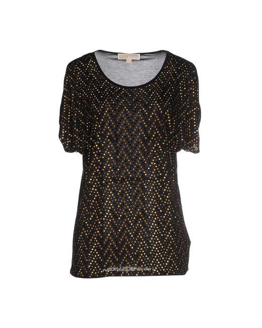 michael michael kors t shirt in black save 48 lyst. Black Bedroom Furniture Sets. Home Design Ideas
