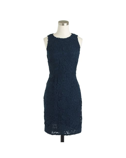 J.Crew | Black Tall Sleeveless Floral Lace Sheath Dress | Lyst