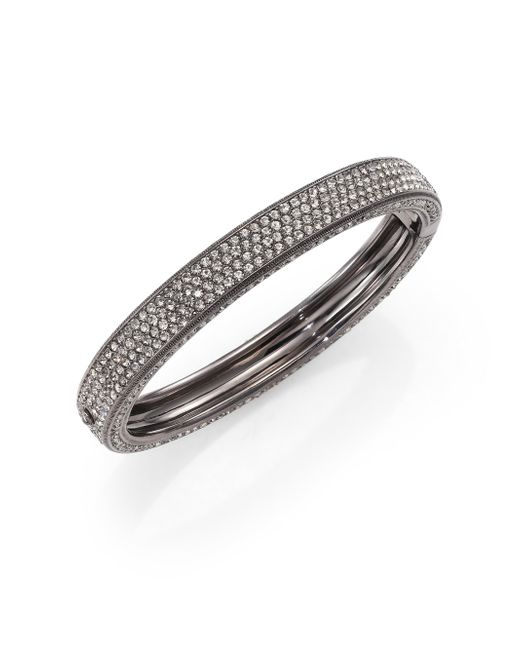Adriana Orsini | Metallic Pave Crystal Four-row Bangle Bracelet | Lyst