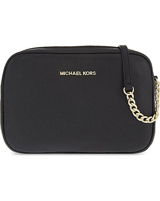 MICHAEL Michael Kors | Black Bedford Leather Cross-body Bag | Lyst