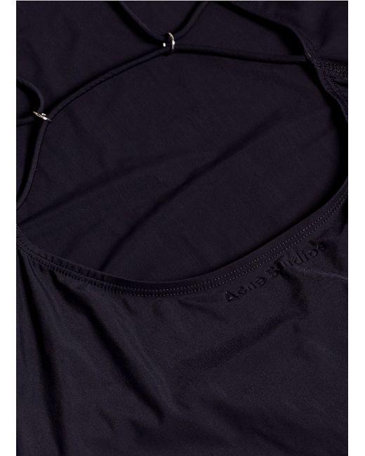 Acne | Black Halla Swimsuit | Lyst