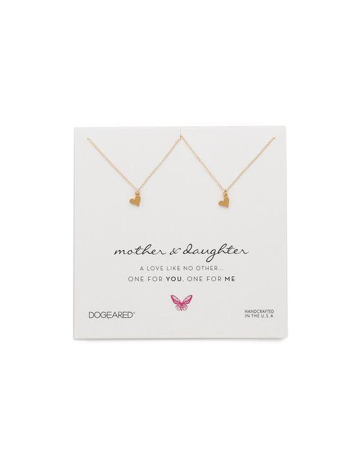 Dogeared | Metallic Mother & Daughter Little Heart Charm Necklace Set | Lyst
