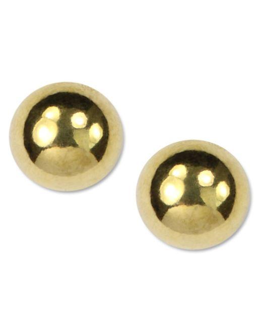 Anne Klein | Metallic Gold-tone Stud Earrings | Lyst