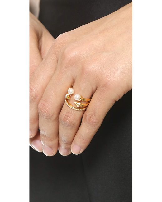 Vita Fede | Metallic Ultra Mini Freshwater Cultured Pearl Titan Ring | Lyst