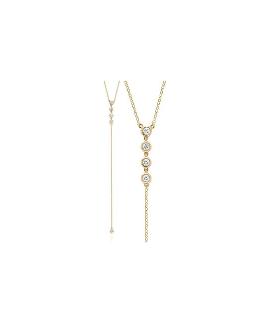 EF Collection | Metallic 5 Bezel Lariat Necklace | Lyst