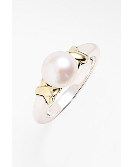 Lagos | Metallic 'luna' Pearl Ring | Lyst