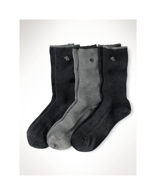Pink Pony | Gray Ribbed Trouser Sock 3-pack | Lyst