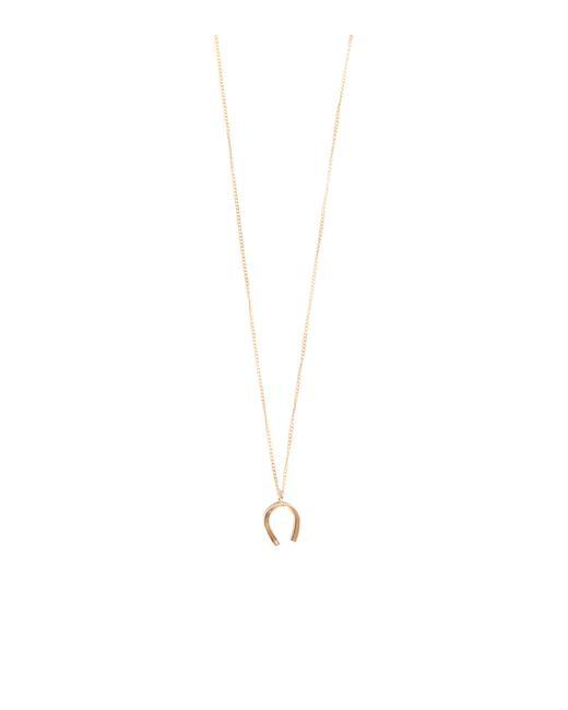 Melissa Joy Manning   Metallic Horseshoe With White Diamond Necklace   Lyst