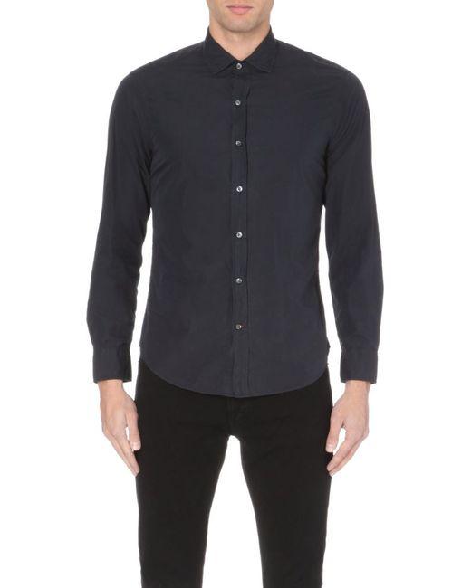 Ralph Lauren Black Label | Slim-fit Cotton Shirt, Men's, Size: M, Rl Black for Men | Lyst