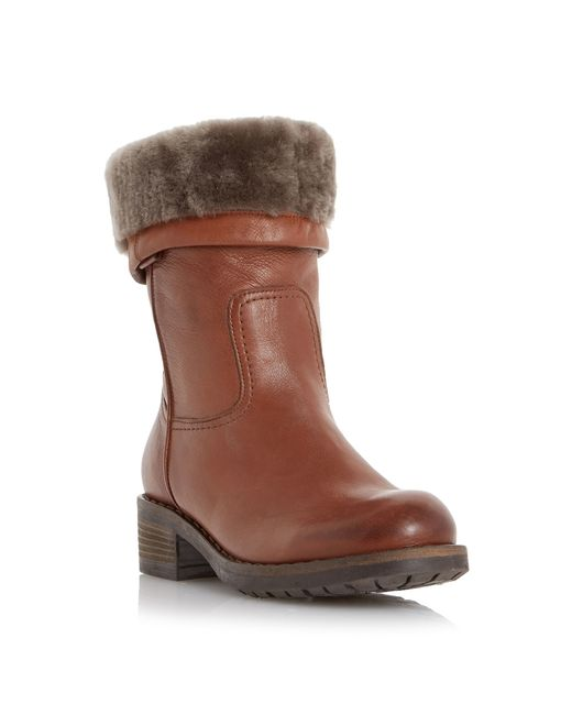 Dune Black | Brown Parrie Furlined Round Toe Boots | Lyst