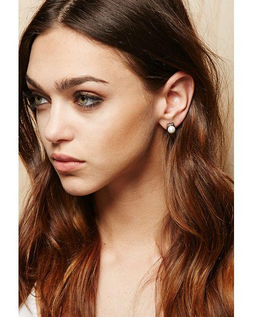 Forever 21 | Metallic Amber Sceats Prism Earrings | Lyst