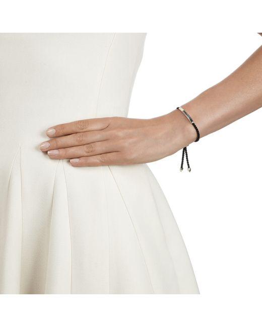 Monica Vinader | Black Esencia Sterling Silver Friendship Bracelet - For Women | Lyst