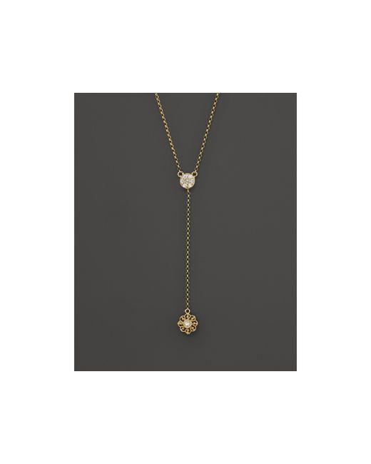 KC Designs | Metallic Diamond Flower Lariat In 14k Yellow Gold | Lyst