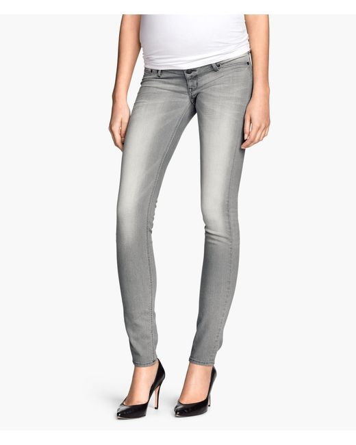 h m mama skinny jeans in gray lyst. Black Bedroom Furniture Sets. Home Design Ideas