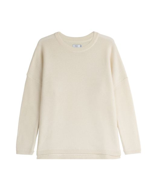 Vince | Natural Wool-cashmere Pullover | Lyst