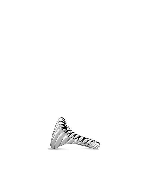 David Yurman | Sculp Tedcable Pinky Ring In 18k White Gold | Lyst