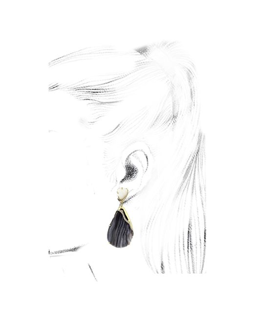 Kara Ross | Black Petra One-of-a-kind Cocina And White Quartz Drop Earrings | Lyst