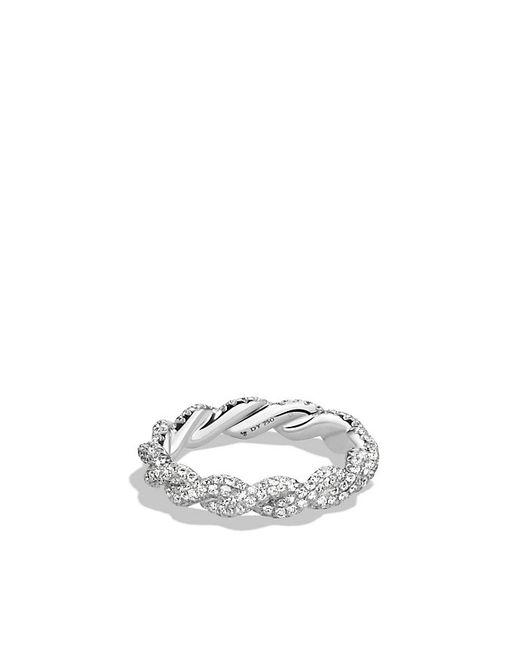 David Yurman | Wisteria Ring With Diamonds In White Gold | Lyst
