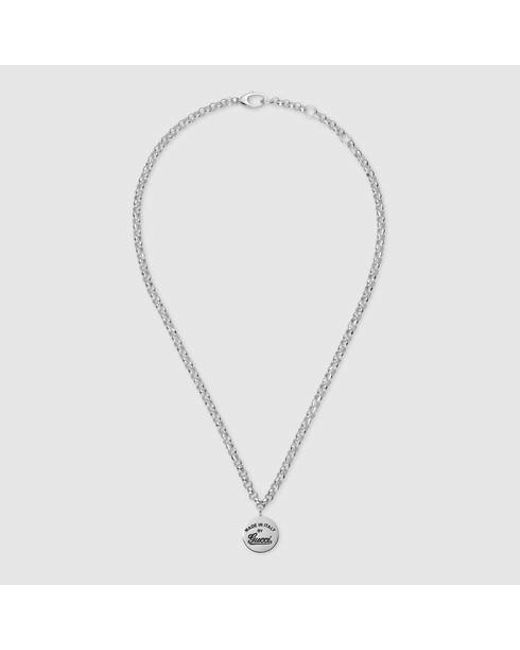 Gucci | Metallic Necklace With Trademark for Men | Lyst
