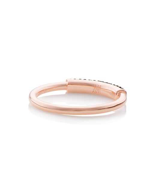 Monica Vinader | Pink Stellar Diamond Stacking Ring | Lyst