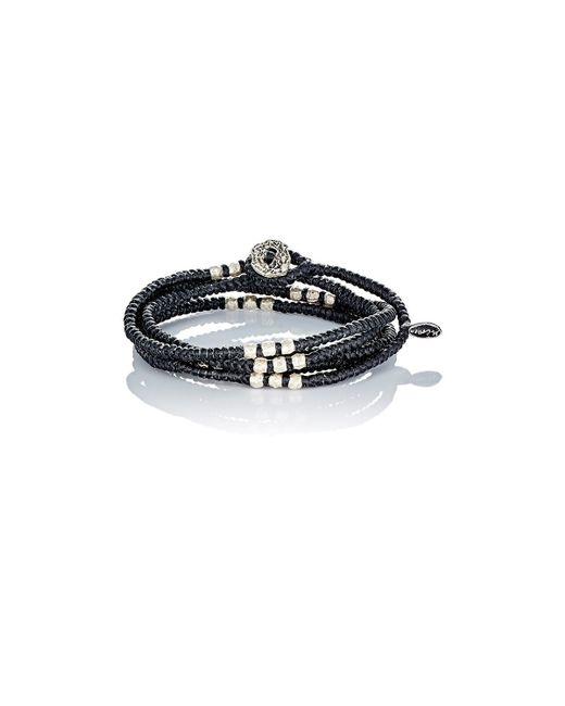 M Cohen | Black Knotted Wrap Bracelet for Men | Lyst