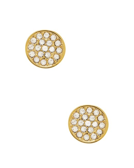 Kate Spade | Metallic Dainty Sparklers Pave Disc Studs | Lyst