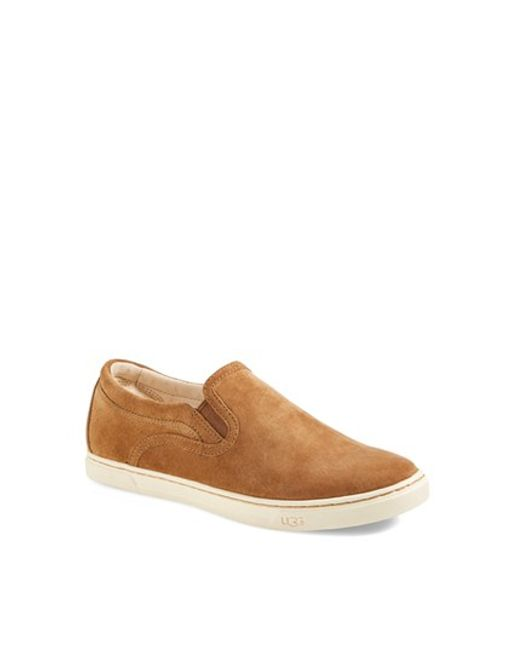 Ugg | Brown 'Fierce' Water Resistant Suede Slip-On Sneaker (Nordstrom Exclusive Color) (Women) | Lyst