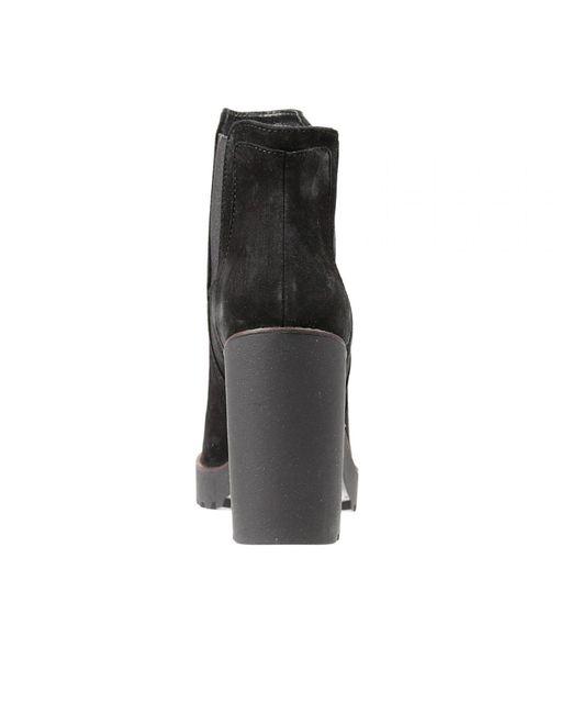 Hogan | Suede Platform Ankle Boots - Black | Lyst
