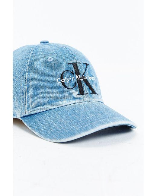 Calvin Klein Baseball Denim Cap In Blue For Men Lyst