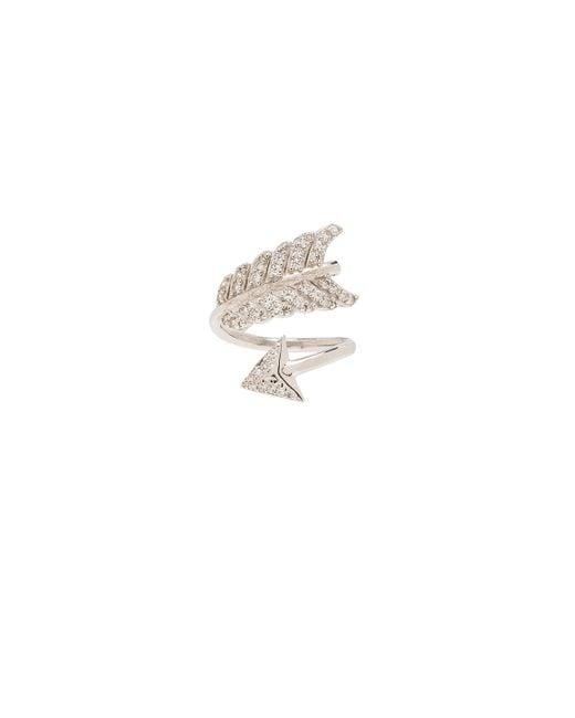Natalie B. Jewelry | Metallic Shooting Arrow Midi Ring | Lyst