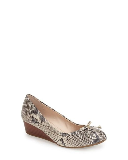 Cole Haan   Multicolor 'tali' Bow Wedge Pump   Lyst