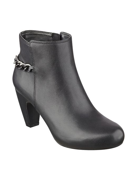 Easy Spirit | Black Carilynne Leather Booties | Lyst