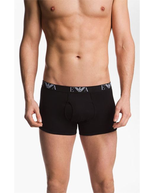 Emporio Armani | 3-pack Trunks, Black for Men | Lyst