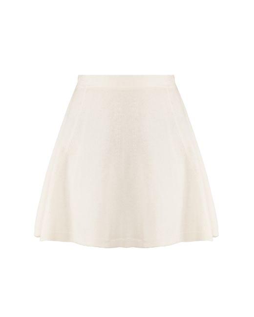 3.1 Phillip Lim | White Flare Wool Skirt | Lyst