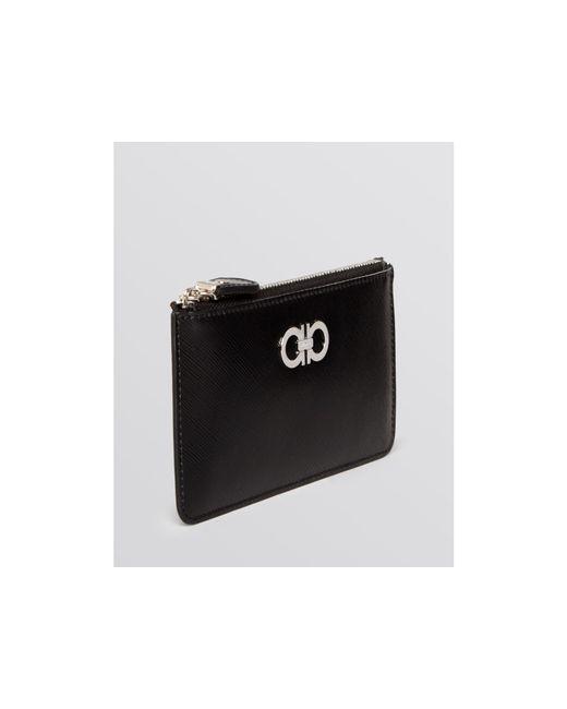 Ferragamo | Pink Card Case - Gancini Icona | Lyst