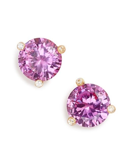 Kate Spade | Purple 'rise And Shine' Stud Earrings | Lyst